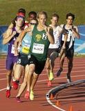 Atleti maschii della pista che eseguono il Canada Fotografia Stock Libera da Diritti