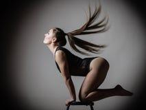 Atletic woman fit slim body posing Stock Photo