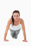 Atletic young woman doing push ups Royalty Free Stock Image