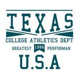 Atletica dell'istituto universitario del Texas di progettazione Fotografia Stock Libera da Diritti