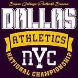 Atletica di Dallas di progettazione Fotografia Stock