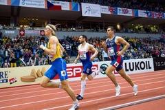 Atletica - Mihail Dudas; Heptathlon dell'uomo, 1000m Fotografia Stock