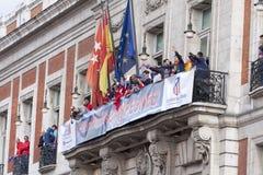 Atletico De Madrid, champion espagnol de ligue Photos libres de droits
