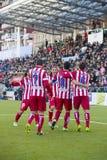 Atletico de Madrid goal celebration Stock Images