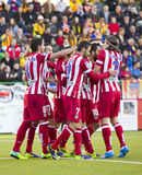 Atletico de Madrid goal Stock Photos