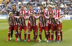Atletico de Madrid lineup royaltyfri foto