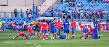 Atletico de Madrid players Royalty Free Stock Photos