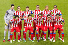 Atletico de Madrid players Royalty Free Stock Photography
