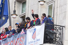 Atletico de Madrid, spanish league champion Royalty Free Stock Photography