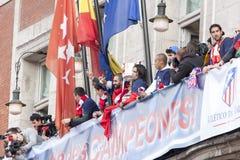 Atletico de Madrid, spanish league champion Stock Photography