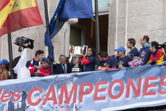 Atletico de Madrid, spanish league champion Royalty Free Stock Image