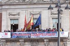 Atletico de Madrid, spanish league champion Royalty Free Stock Photos