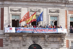 Atletico de Madrid, spanish league champion Royalty Free Stock Photo