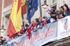 Atletico de Madrid, spansk ligamästare Royaltyfri Fotografi
