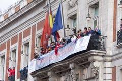 Atletico de Madrid, spansk ligamästare Fotografering för Bildbyråer