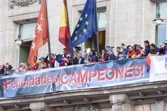Atletico de Madrid, spansk ligamästare Arkivbilder