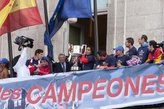 Atletico de Madrid, spansk ligamästare Royaltyfri Bild
