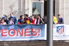 Atletico de Madrid, spansk ligamästare Arkivfoto