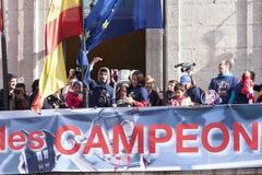 Atletico de Madrid, spansk ligamästare Royaltyfri Foto
