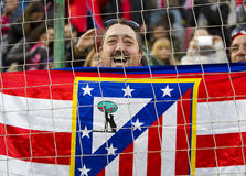 Atletico de Madrid supporter Royalty Free Stock Images