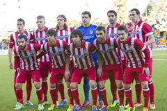 Atletico de Madrid team players Royalty Free Stock Photos