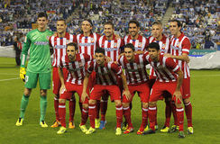 Atletico de Madrid team posing Stock Photography