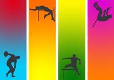 Atletico e relativo alla ginnastica   illustrazione vettoriale