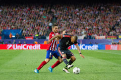 Atletico Madrid (1-0) Bayern Munich Royaltyfri Foto