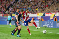 Atletico Madrid (1-0) Bayern Munich Stock Afbeelding
