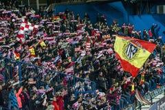 Atletico Madrid fans Royaltyfria Foton
