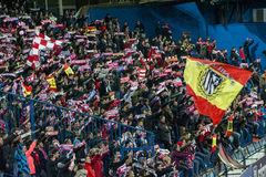 Atletico Madrid fans Royalty Free Stock Photos