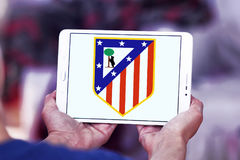 Atletico madrid soccer club logo Royalty Free Stock Image