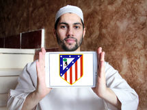 Atletico madrid soccer club logo Stock Photo