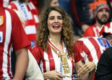 Atletico Madrid Supporters royalty free stock image