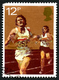 Atletiek Britse Postzegel Royalty-vrije Stock Foto