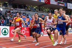 Atletiek - Mihail Dudas; Mens Heptathlon, 1000m Stock Foto