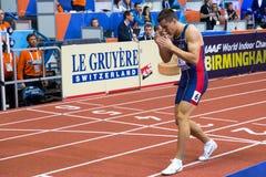Atletiek - Mihail Dudas; Mens Heptathlon, 1000m Royalty-vrije Stock Fotografie