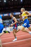 Atletiek - Mihail Dudas; Mens Heptathlon, 1000m Royalty-vrije Stock Foto