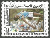 Atletiek, Olympische Spelen Los Angeles Stock Afbeelding