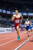 Atletiek PESIC Darko - Mens Heptathlon, 1000m Royalty-vrije Stock Afbeeldingen