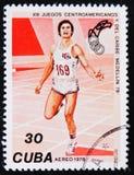 Atletiek, 13Th Spelen Van Centraal-Amerika en Caraïbische, circa 1978 Stock Fotografie