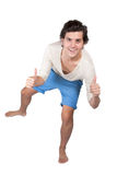 Atletisch jong mannetje Royalty-vrije Stock Afbeeldingen