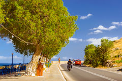 Atletisch jong meisje die, Rethymno, Kreta lopen Royalty-vrije Stock Fotografie