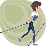 Atletisch meisje Stock Illustratie
