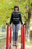 Atletisch meisje Stock Foto