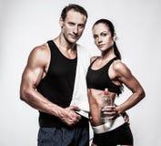Atletisch paar stock foto