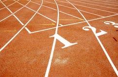 Atletisch spoor Stock Foto
