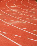 Atletisch Spoor en Gebied Stock Fotografie