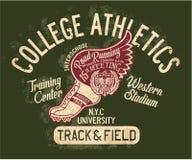 Atletisch universiteitsspoor en gebied Stock Foto's