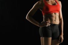 Atletisch vrouwelijk lichaam. Stock Foto's